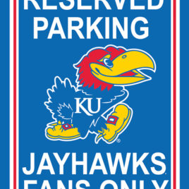 Kansas Jayhawks | 12″ X 18″ Plastic Parking Sign