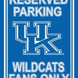 Kentucky Wildcats | 12″ X 18″ Plastic Parking Sign
