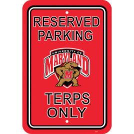 Maryland Terrapins | 12″ X 18″ Plastic Parking Sign