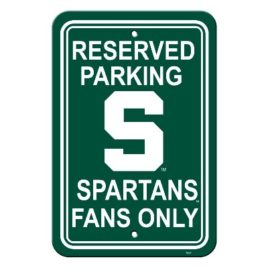 Michigan State Spartans | 12″ X 18″ Plastic Parking Sign