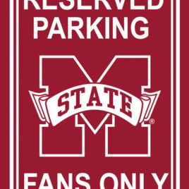Mississippi State Bulldogs | 12″ X 18″ Plastic Parking Sign