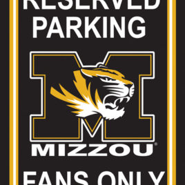 Missouri Tigers | 12″ X 18″ Plastic Parking Sign