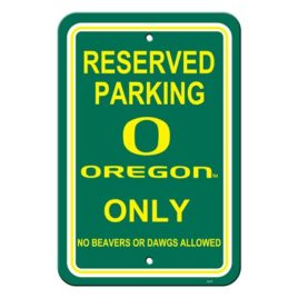 Oregon Ducks | 12″ X 18″ Plastic Parking Sign