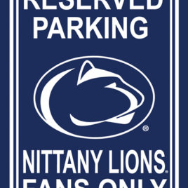 Penn State Nittany Lions | 12″ X 18″ Plastic Parking Sign