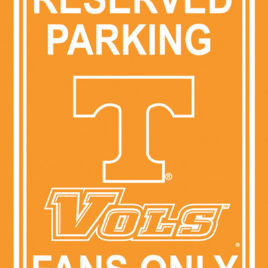 Tennessee Volunteers | 12″ X 18″ Plastic Parking Sign