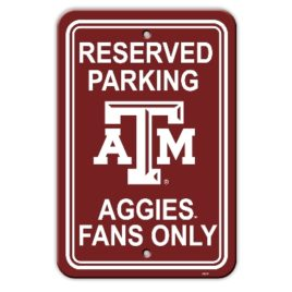 Texas A&M Aggies | 12″ X 18″ Plastic Parking Sign