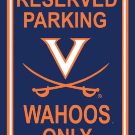 Virginia Cavaliers | 12″ X 18″ Plastic Parking Sign