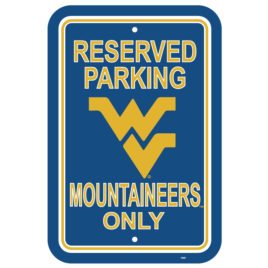 West Virginia Mountaineers | 12″ X 18″ Plastic Parking Sign