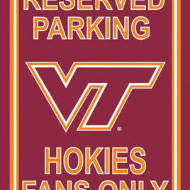 Virginia Tech Hokies | 12″ X 18″ Plastic Parking Sign