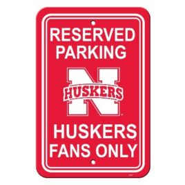 Nebraska Cornhuskers | 12″ X 18″ Plastic Parking Sign
