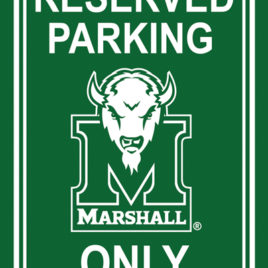 Marshall Thundering Herd | 12″ X 18″ Plastic Parking Sign