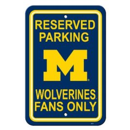 Michigan Wolverines | 12″ X 18″ Plastic Parking Sign