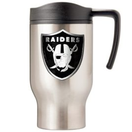 Oakland Raiders | 16 oz. Stainless Steel Thermal Mug W/ Emblem