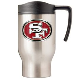 San Francisco 49Ers | 16 oz. Stainless Steel Thermal Mug W/ Emblem
