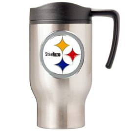 Pittsburgh Steelers | 16 oz. Stainless Steel Thermal Mug W/ Emblem