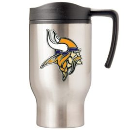 Minnesota Vikings | 16 oz. Stainless Steel Thermal Mug W/ Emblem