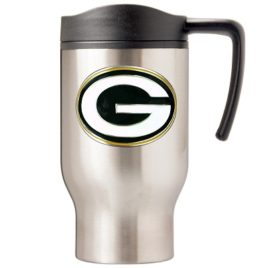 Green Bay Packers | 16 oz. Stainless Steel Thermal Mug W/ Emblem