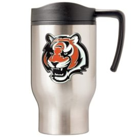 Cincinnati Bengals | 16 oz. Stainless Steel Thermal Mug W/ Emblem