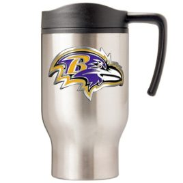 Baltimore Ravens | 16 oz. Stainless Steel Thermal Mug W/ Emblem