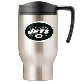 New York Jets | 16 oz. Stainless Steel Thermal Mug W/ Emblem