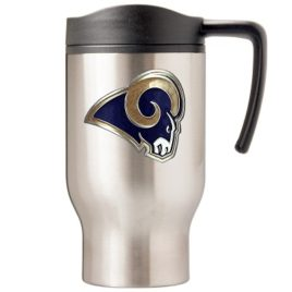 St. Louis Rams | 16 oz. Stainless Steel Thermal Mug W/ Emblem