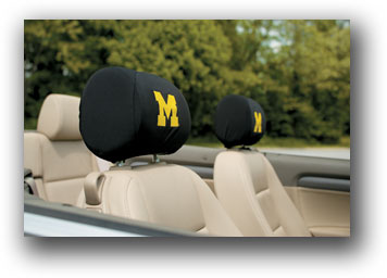 Michigan Wolverines | Headrest Covers Set Of 2