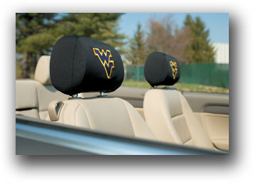 West Virginia Mountaineers | Headrest Covers Set Of 2