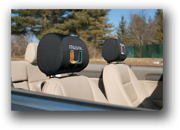 Miami Hurricanes | Headrest Covers Set Of 2