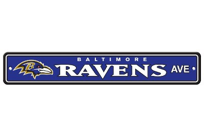 Baltimore Ravens | Plastic Street Sign