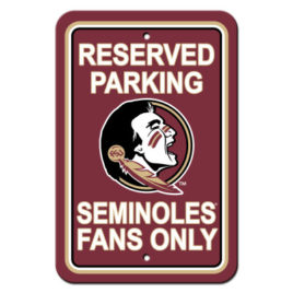 Florida State Seminoles | 12″ X 18″ Plastic Parking Sign