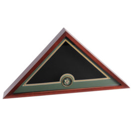Medallion Flag Display Case - Army