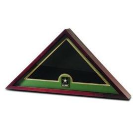 Medallion Flag Display Case - Go Army