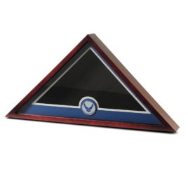 Medallion Flag Display Case - Air Force Wings