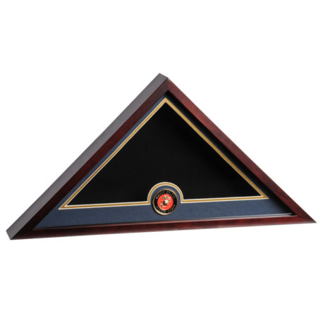 Medallion Flag Display Case - Marine Corps