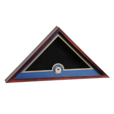 Medallion Flag Display Case - Coast Guard
