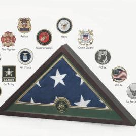 Medallion Flag Display Case - Fire Fighter