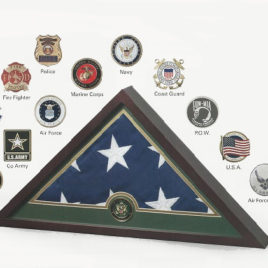 Medallion Flag Display Case - EMS