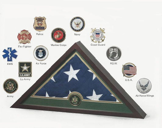 Medallion Flag Display Case - EMS